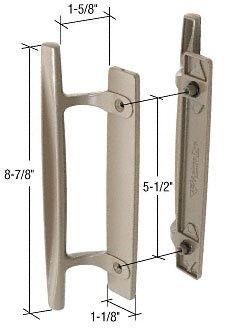 Crl Stone 8 7 8 Sliding Glass Door Handle Set 1 5 8
