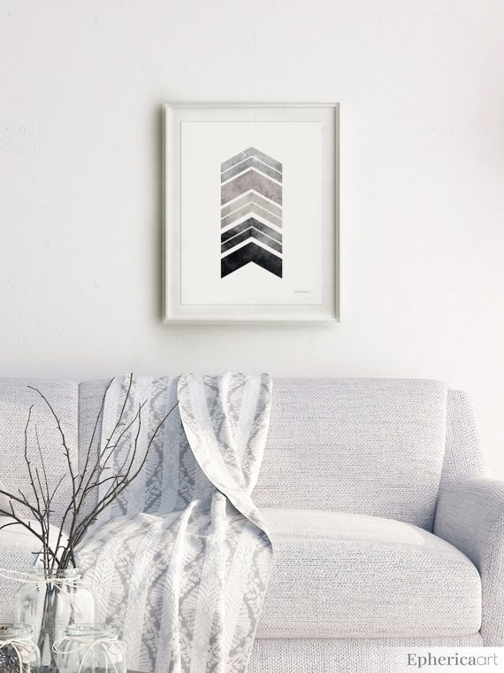 Black and white artwork modern home decor gray geometric poster black white printable bedroom art