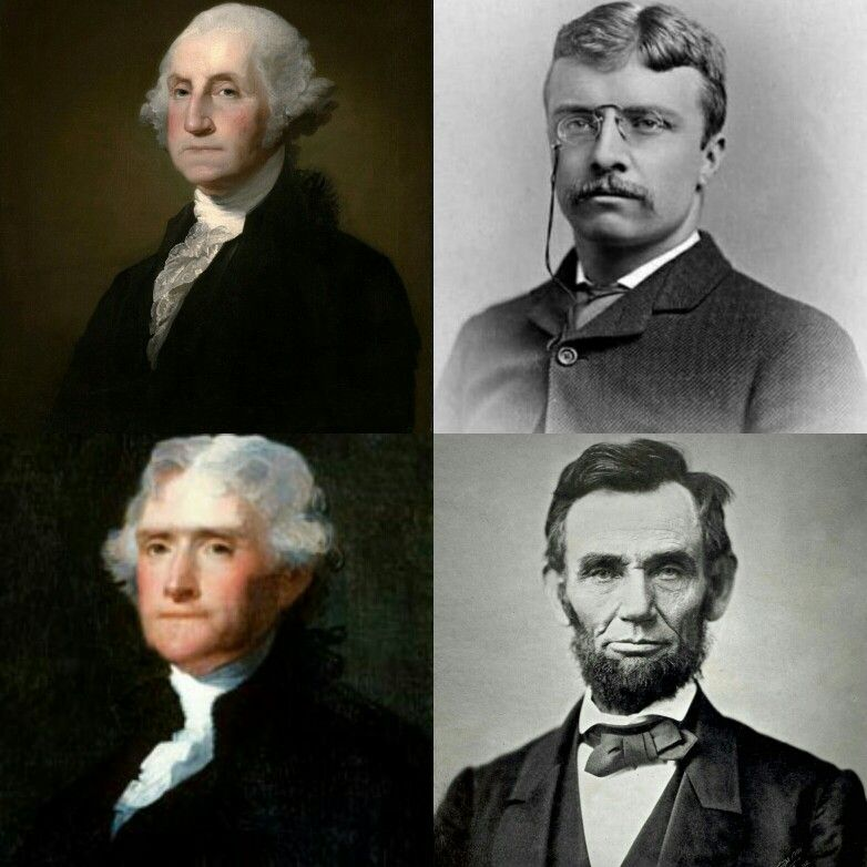 Image result for george washington thomas jefferson theodore roosevelt and abraham lincoln