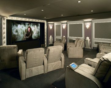 High End Home Theater Eclectic Media Room Philadelphia Rooms Inc