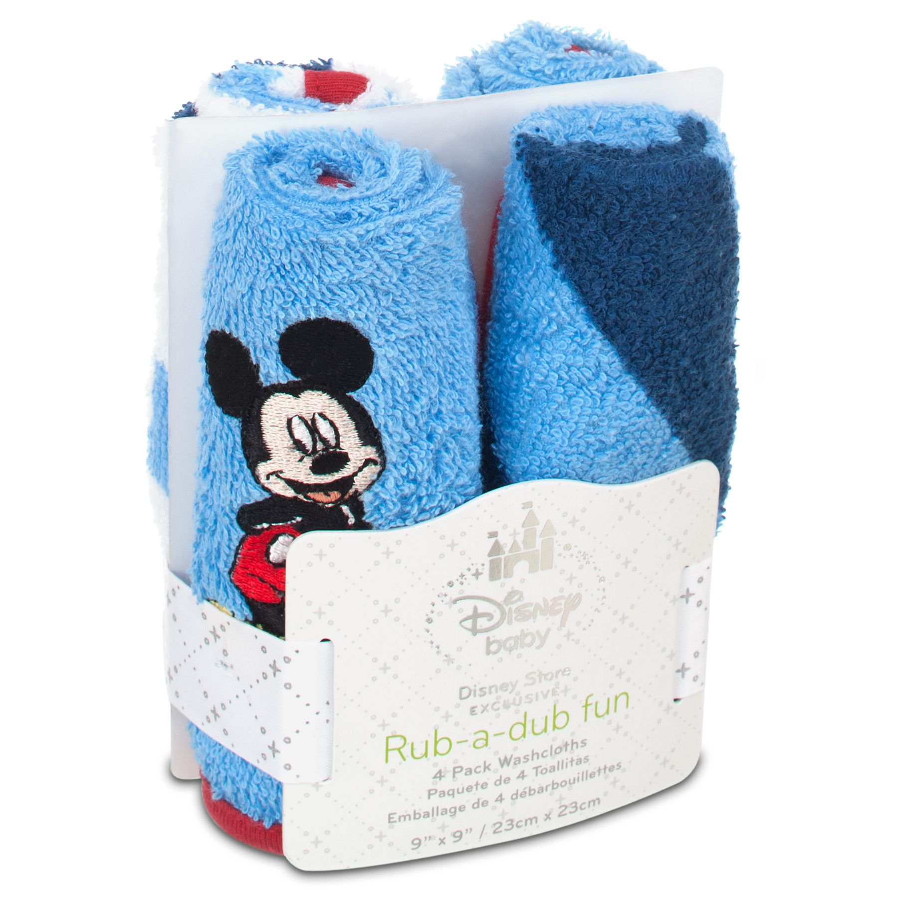 Mickey Mouse 4-Pack Washcloths   Mickey mouse, Mice and Disney babies