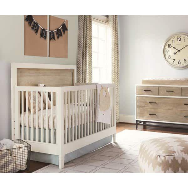 Shop Universal White Wood Convertible Crib - Free Shipping ...