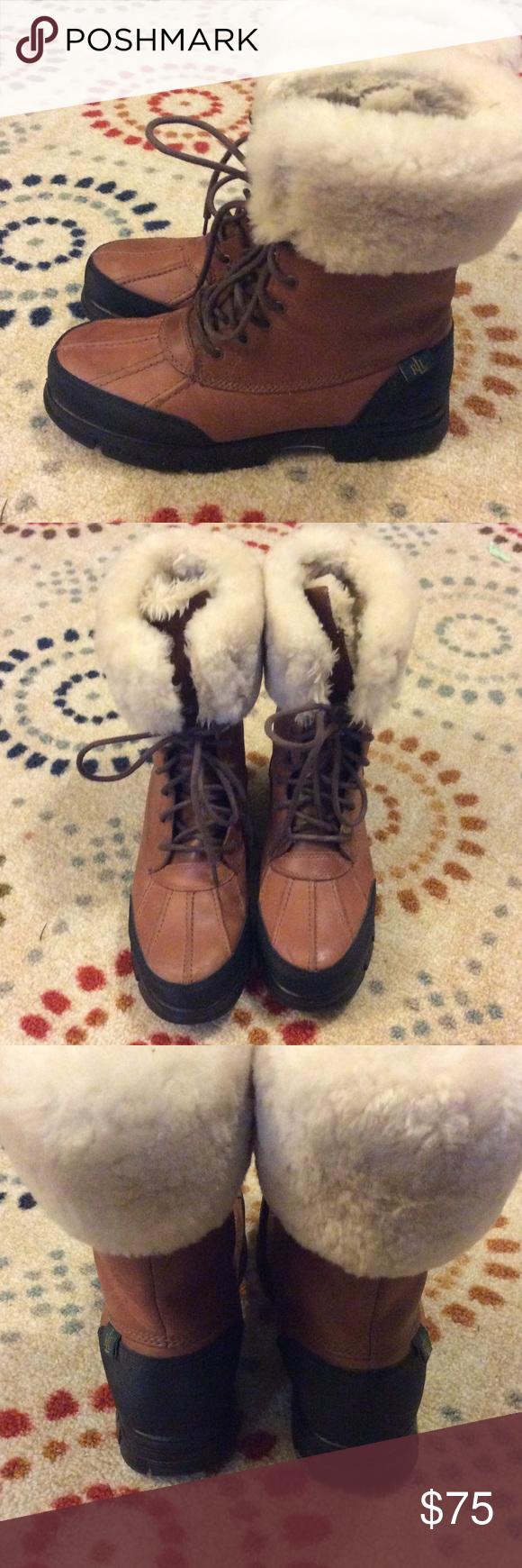 🌺Womens Ralph Lauren Polo Boots w/ Fur