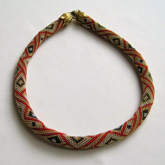 Bead Crochet Necklace Pattern: Diamonds Royale Bead Crocheted ...
