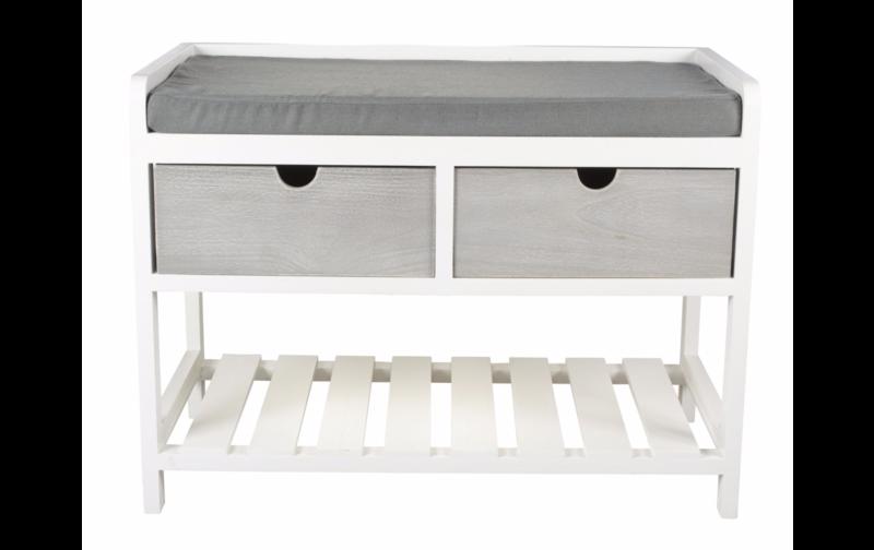 clara banc en bois gris et blanc