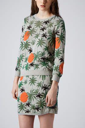 Palm Tree Lurex Sweater