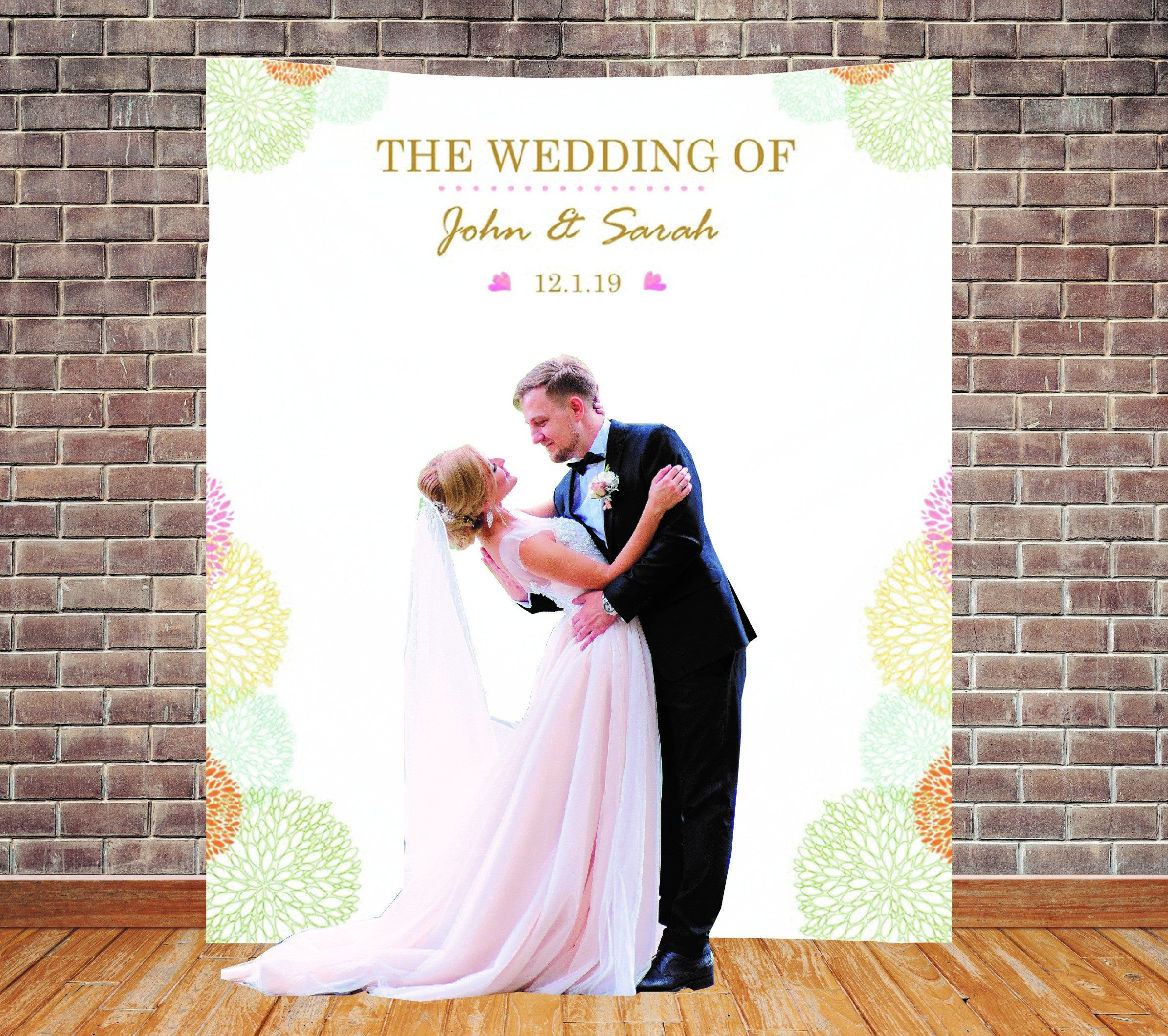 Custom Backdrop Decorations Photo Booth Backdrops Customzied Bridal Shower Wedding Banner Personalized Reception Sign Pastel Color Simple Bridal Shower Decorations Simple Bridal Shower Wedding Banner