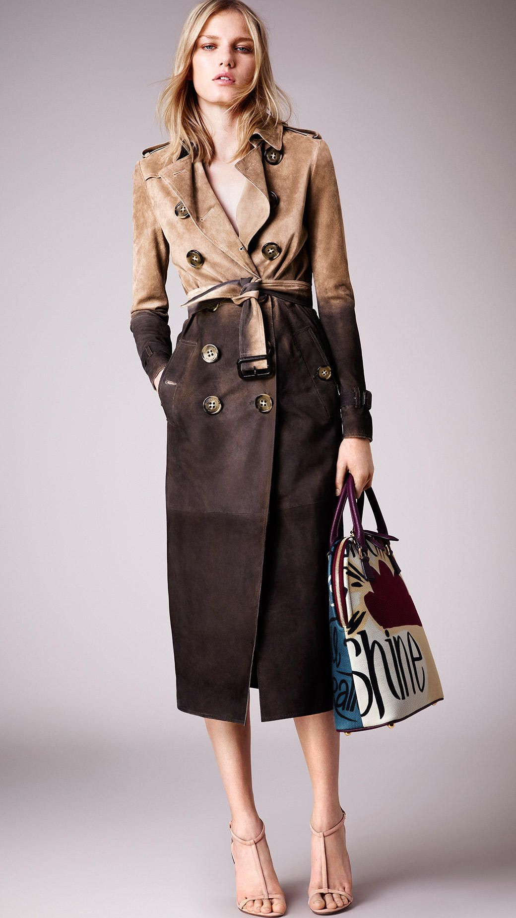 Dégradé Suede Trench Coat | Burberry