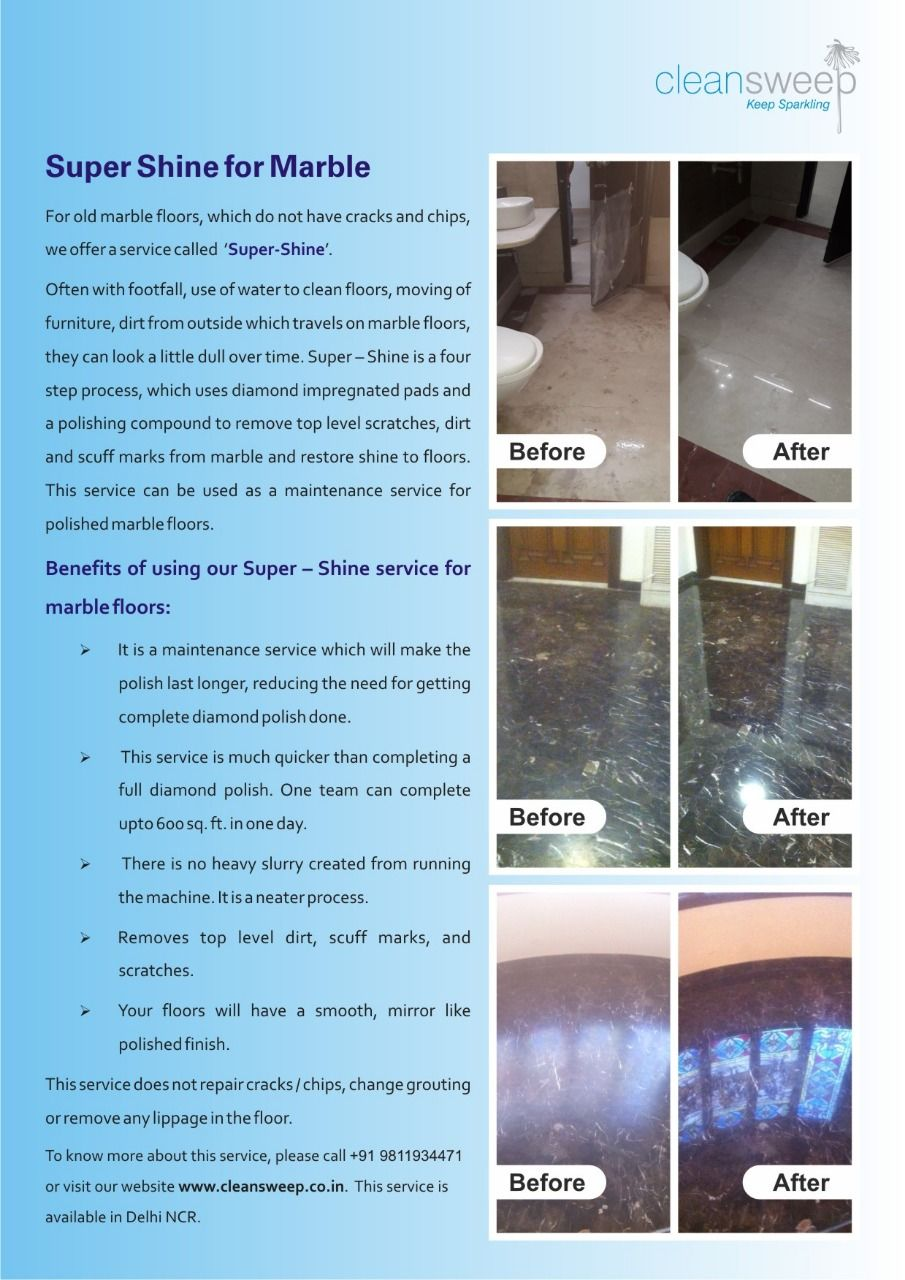 For Old Marble Floors Which Do Not Have Cracks And Chips We