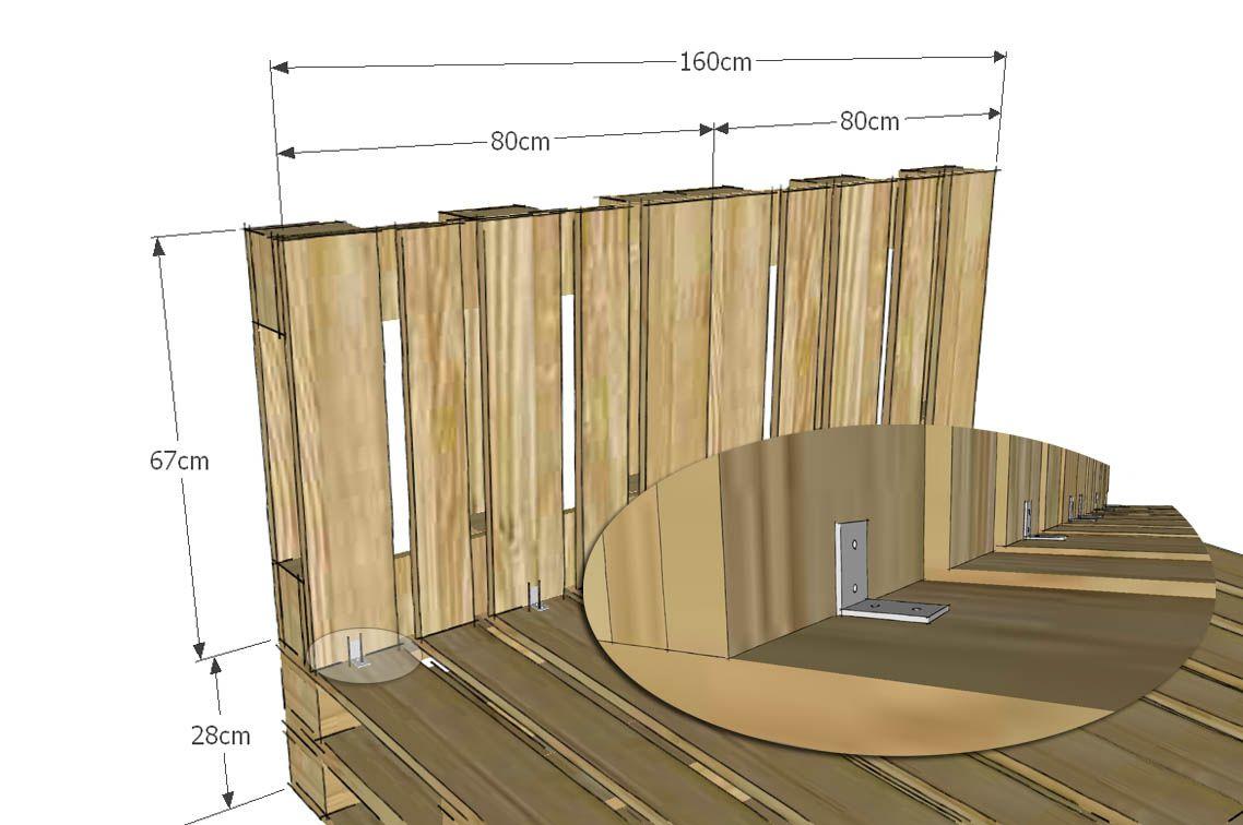 Costruire Un Letto Fai Da Te : Come costruire un letto con pallet riciclati. progetto totalmente