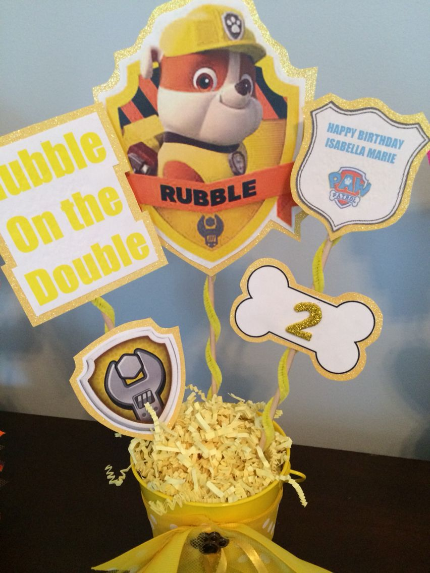 Amazing Diy Rubble Centerpiece Paw Patrol Party In 2019 Download Free Architecture Designs Scobabritishbridgeorg