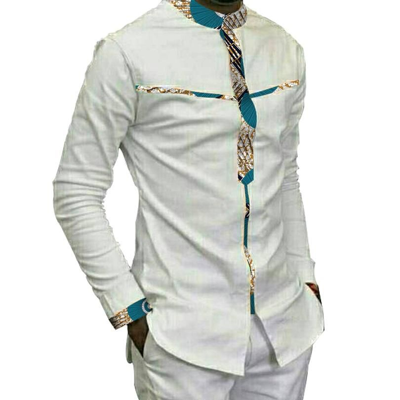 d0d93c961a Mens African Print Ankara Long Sleeve Shirt. Special Use: Traditional  Clothing ...
