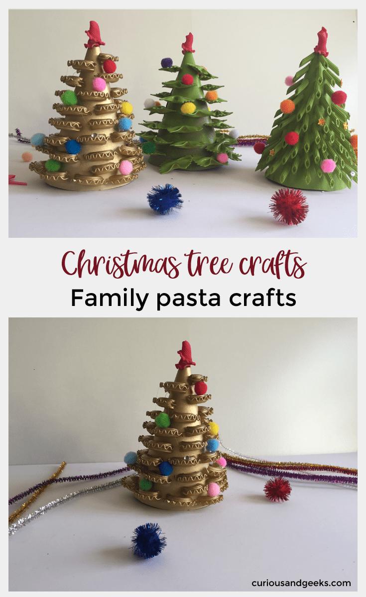 Diy Christmas Tree Crafts Pasta Crafts Curious And Geeks Christmas Tree Crafts Diy Christmas Tree Tree Crafts