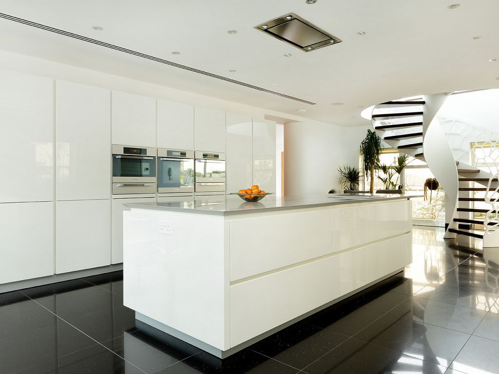 Barbican alno star highline high gloss white kitchen for Küchen miele