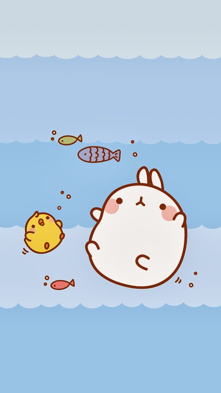 Totoro Wallpaper Iphone 6 Wallpapers Para Tu Celular Molang Ley Worldkawaii