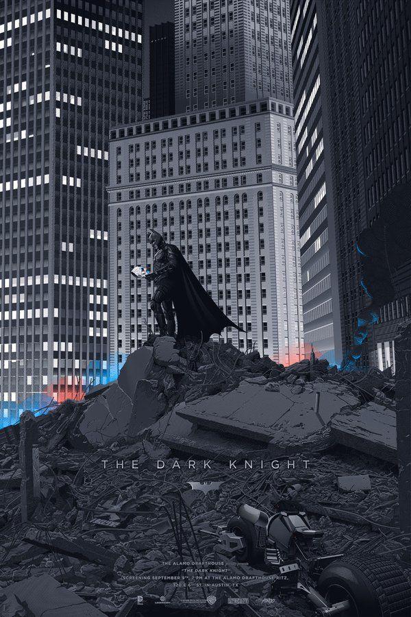 The Dark Knight By Laurent Durieux The Dark Knight Poster Mondo