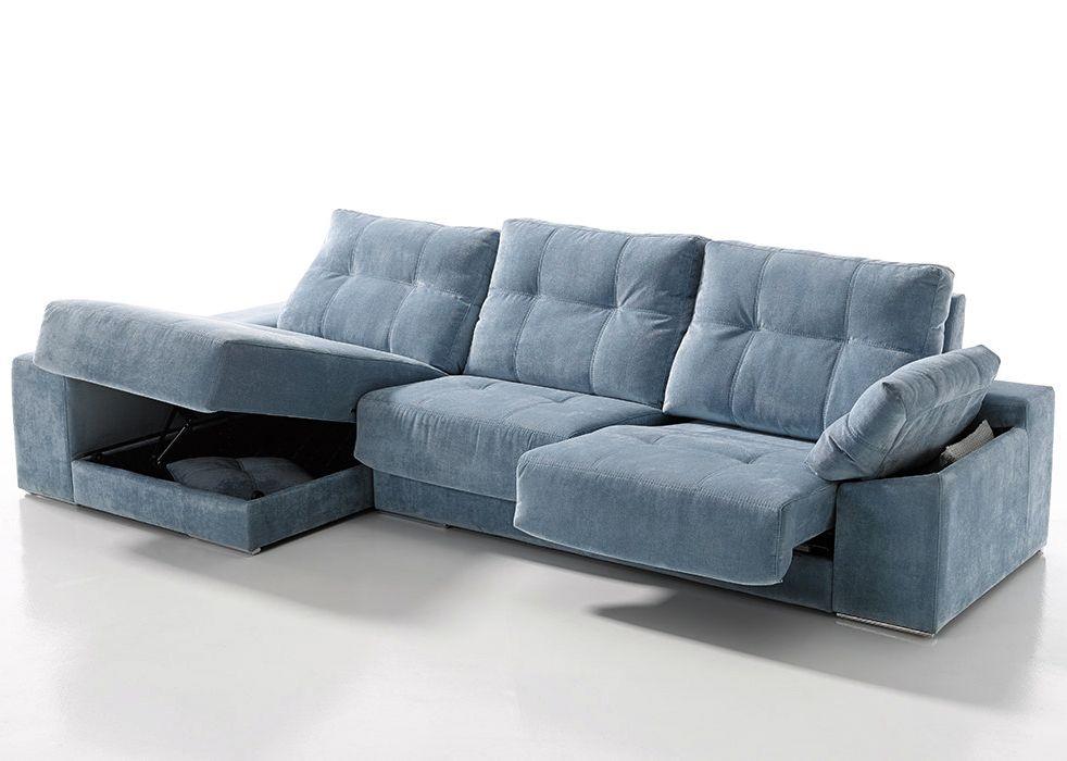 Sofá con chaise-longue modelo Mauro fabricado por Acomodel en Sofassinfin.es