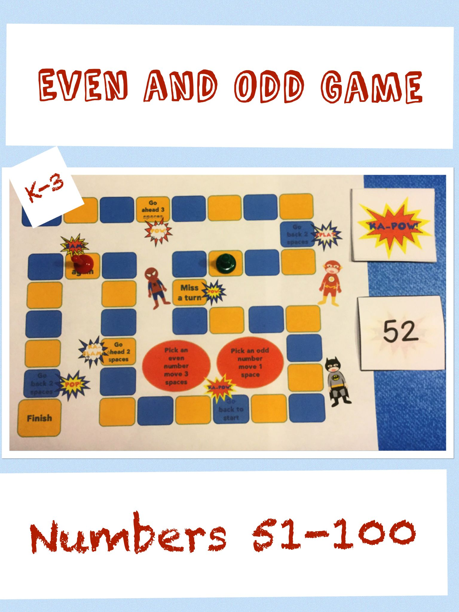 Even And Odd Math Game Numbers 51 To 100 Kindergarten To