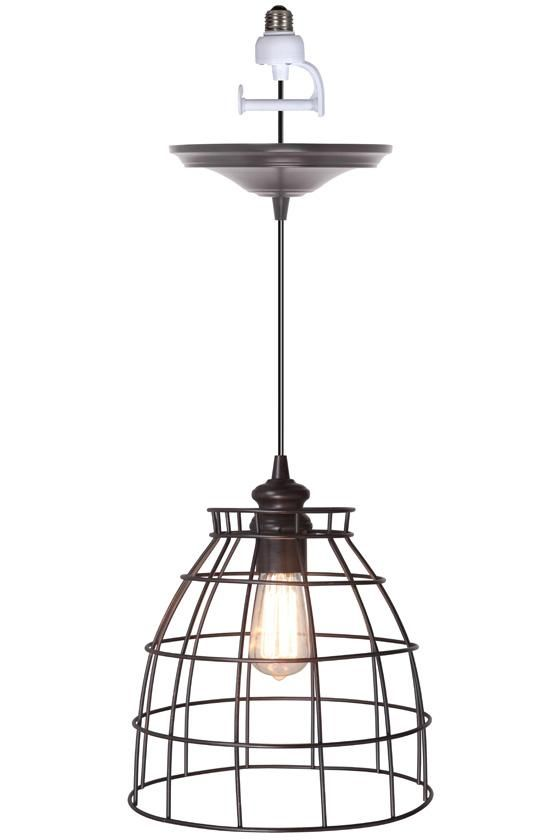 Convert Can Light To Pendant Voila Convert Any Recessed Light Into A Beautiful Pendant Light