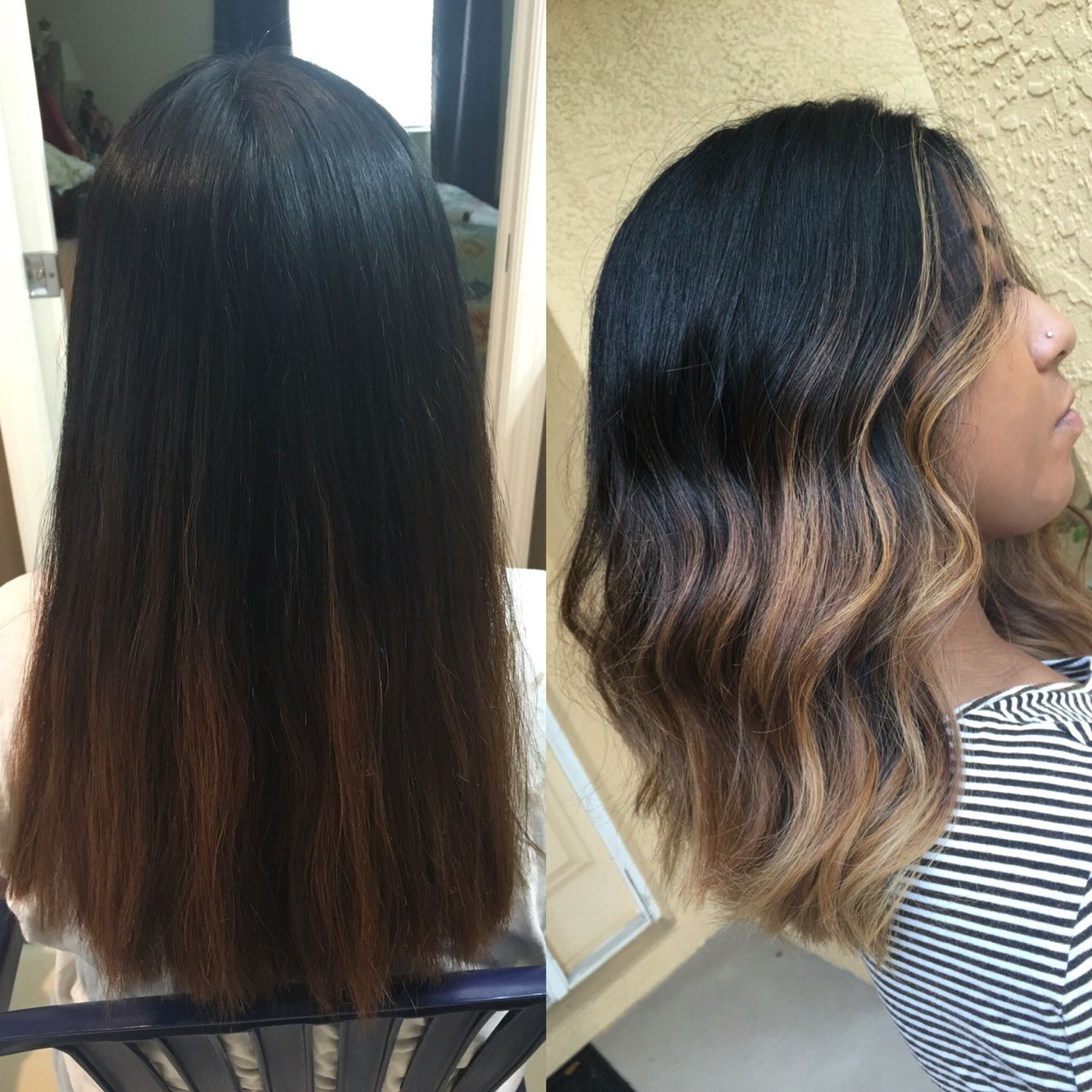 Lob Balayage Ombre Hair Redken Flashlift And Pravana Express Toners