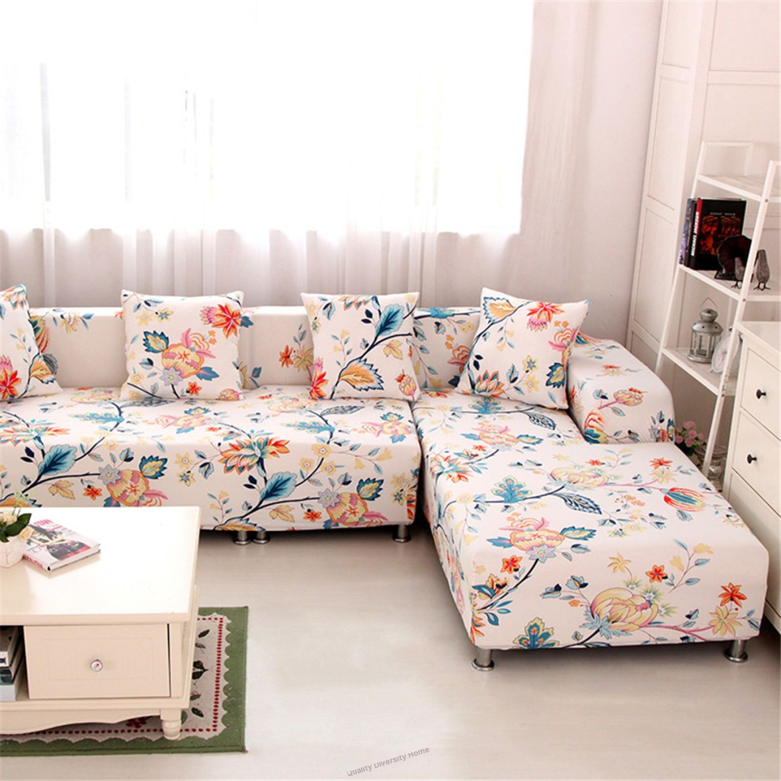 Floral Print Spandex Fabric Stretch Sofa Slipcover Couch Covers Flowery Odour Slip Covers Couch Couch Covers Slipcovers Diy Sofa Cover