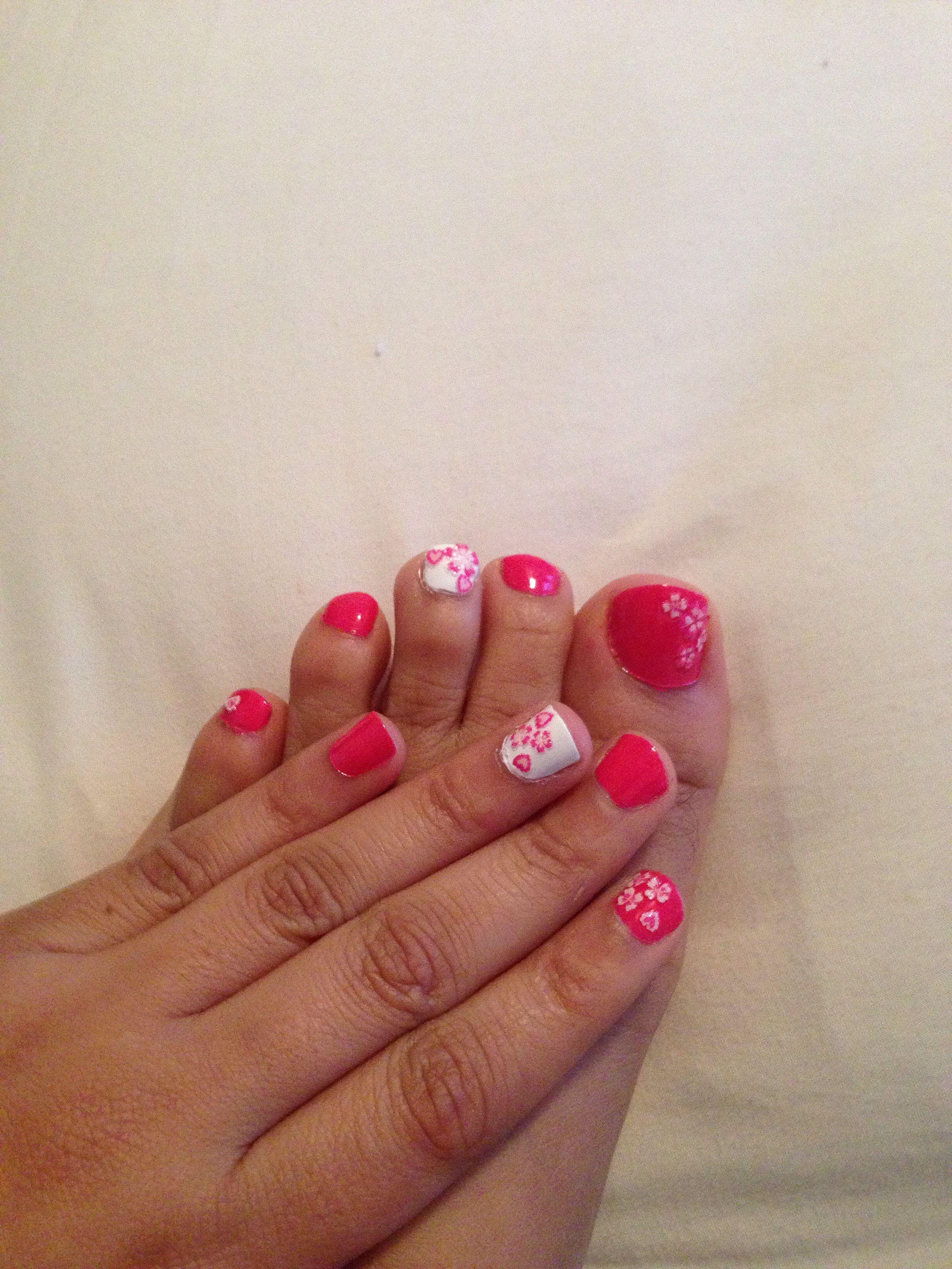 Toes and finger nails match | nails! | Gel nail designs, Toe