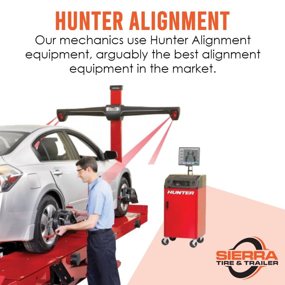 At Sierra Tire Trailer Center When It Comes To Alignment There S No Better Technology Or Car Alignment Equipment Tha Schedule Service Car Alignment Trailer