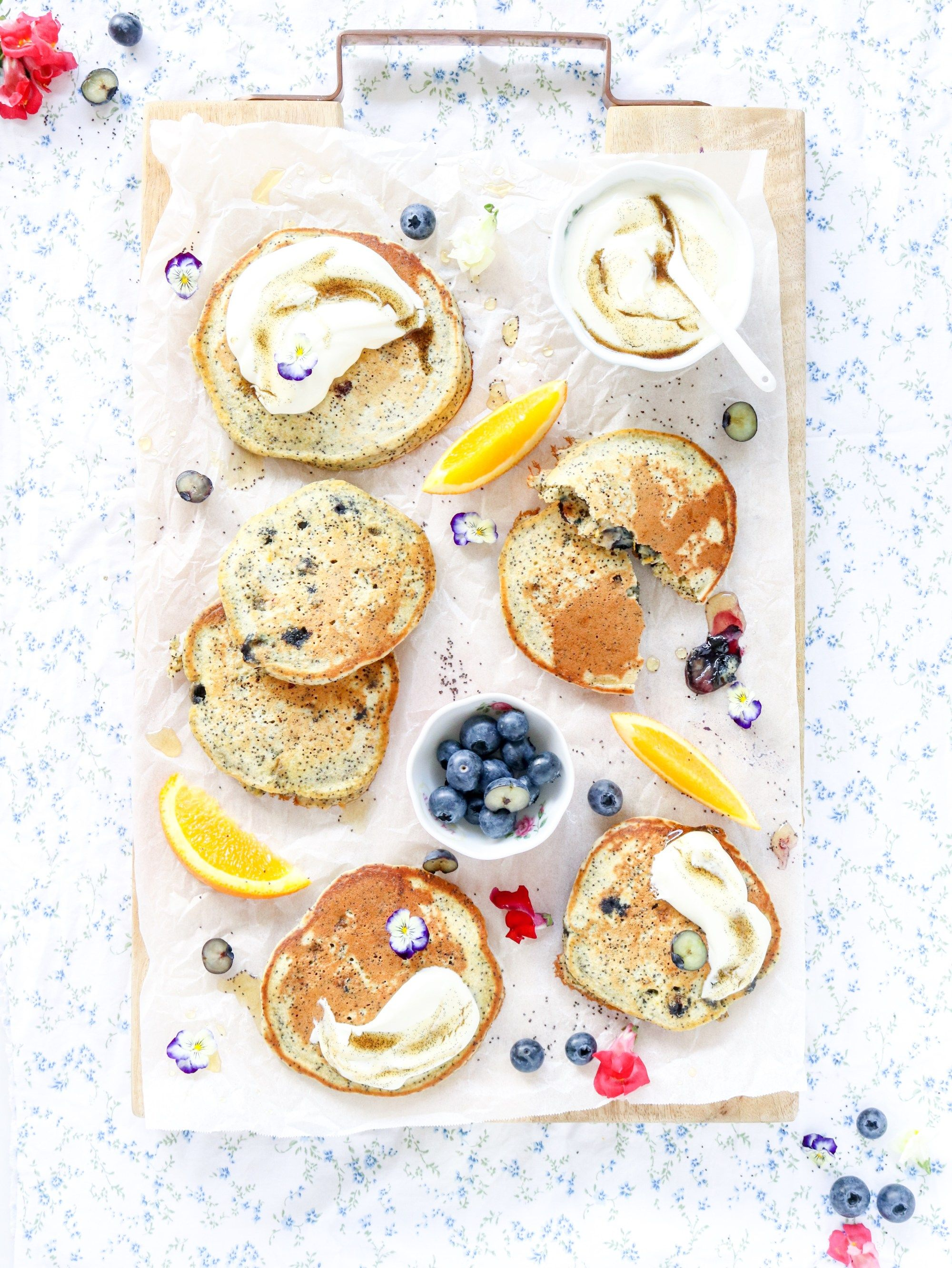blueberry orange and poppy seed pancakes my lovely