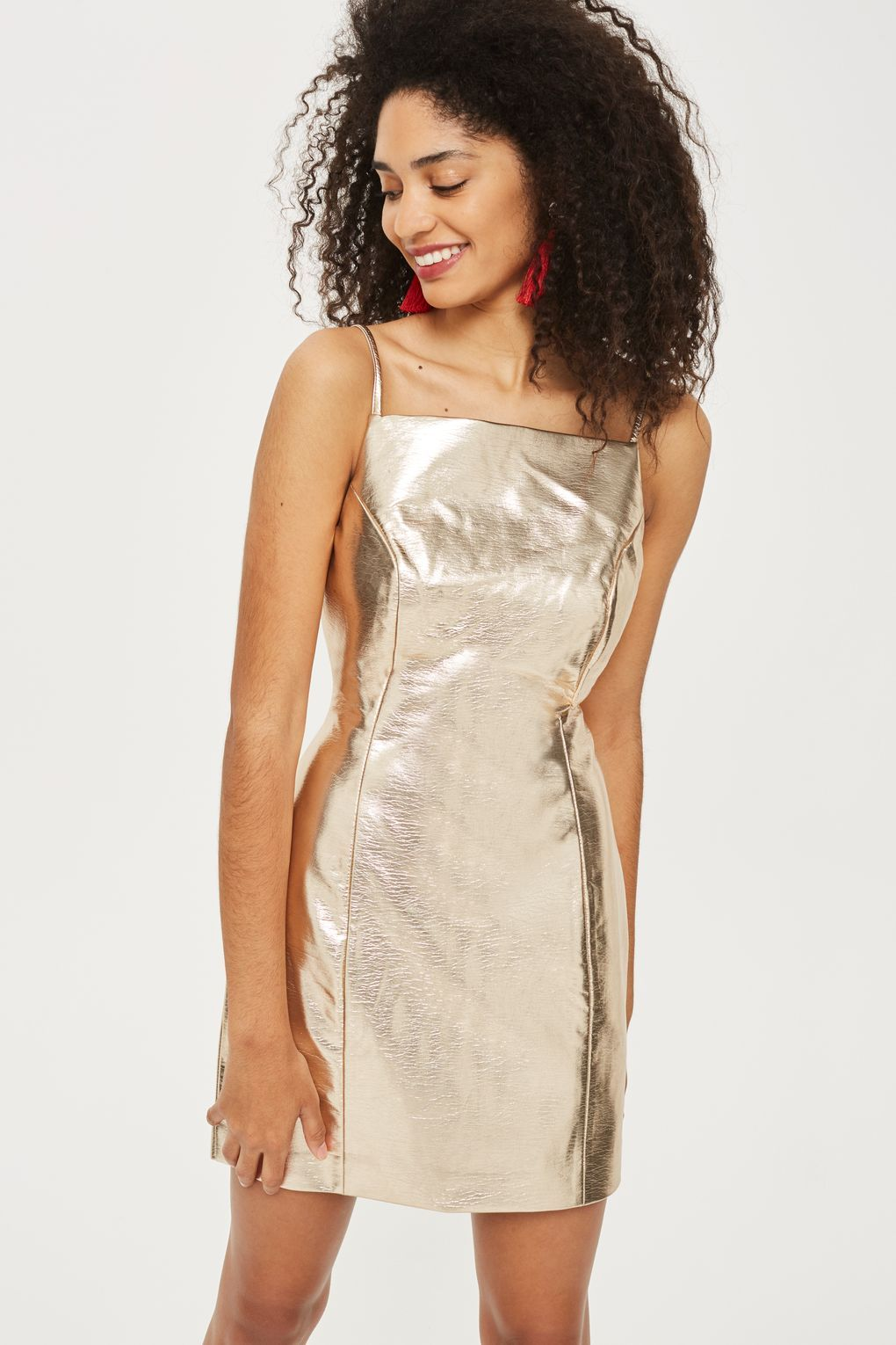 diversified in packaging best selection of street price Gold Vinyl Pinafore Dress | things I wish I could wear and ...