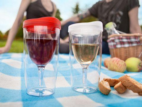 Nye Gadgets - Wine-To-Go, Take away-vinglas!