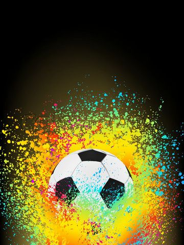 Vector Of Abstract Background With A Soccer Ball Eps 8 Vector File Included Soccer Art Soccer Ball Soccer