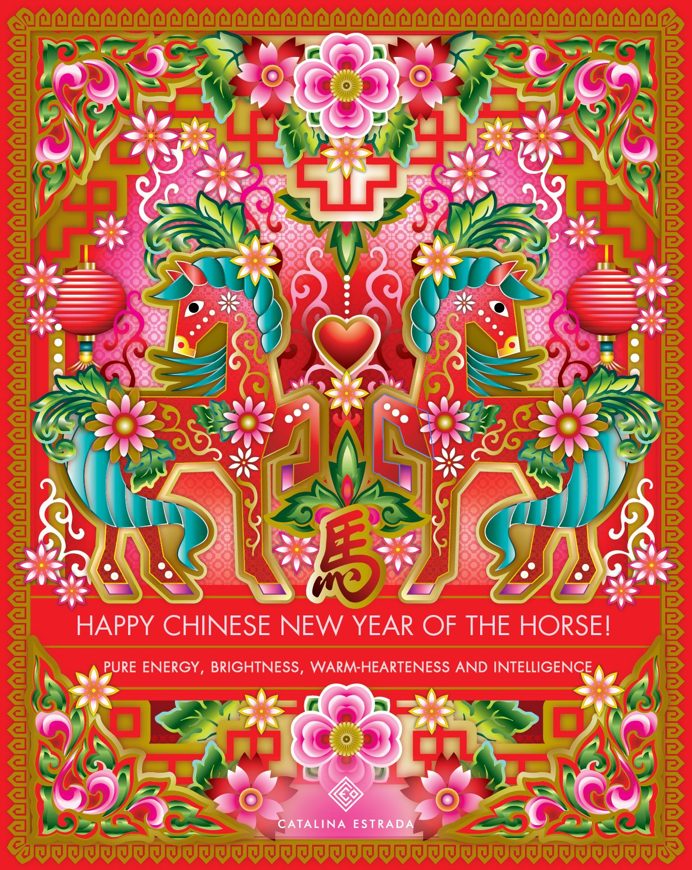 Happy Chinese New Year Of The Horse Is The Year Of