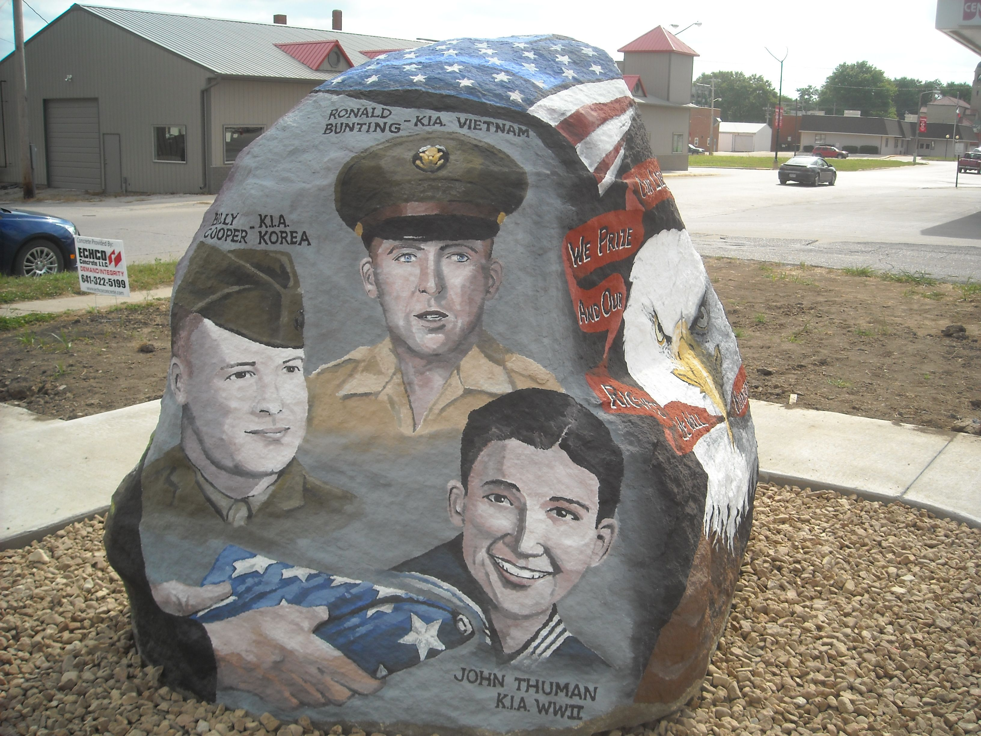 Freedom Rock Adams County Corning Iowa Just Painted 8 13 These Are Local Men Kia Painted On Rock Very Proud Iowa Farms Iowa Freedom