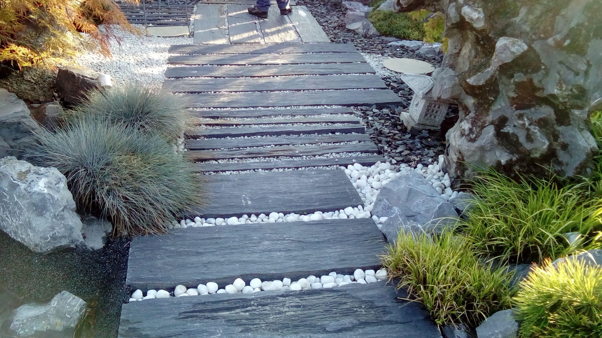 Dalle Ardoise 100 X 30 dalles de schiste noir 100cmx50cm | aménagement jardin