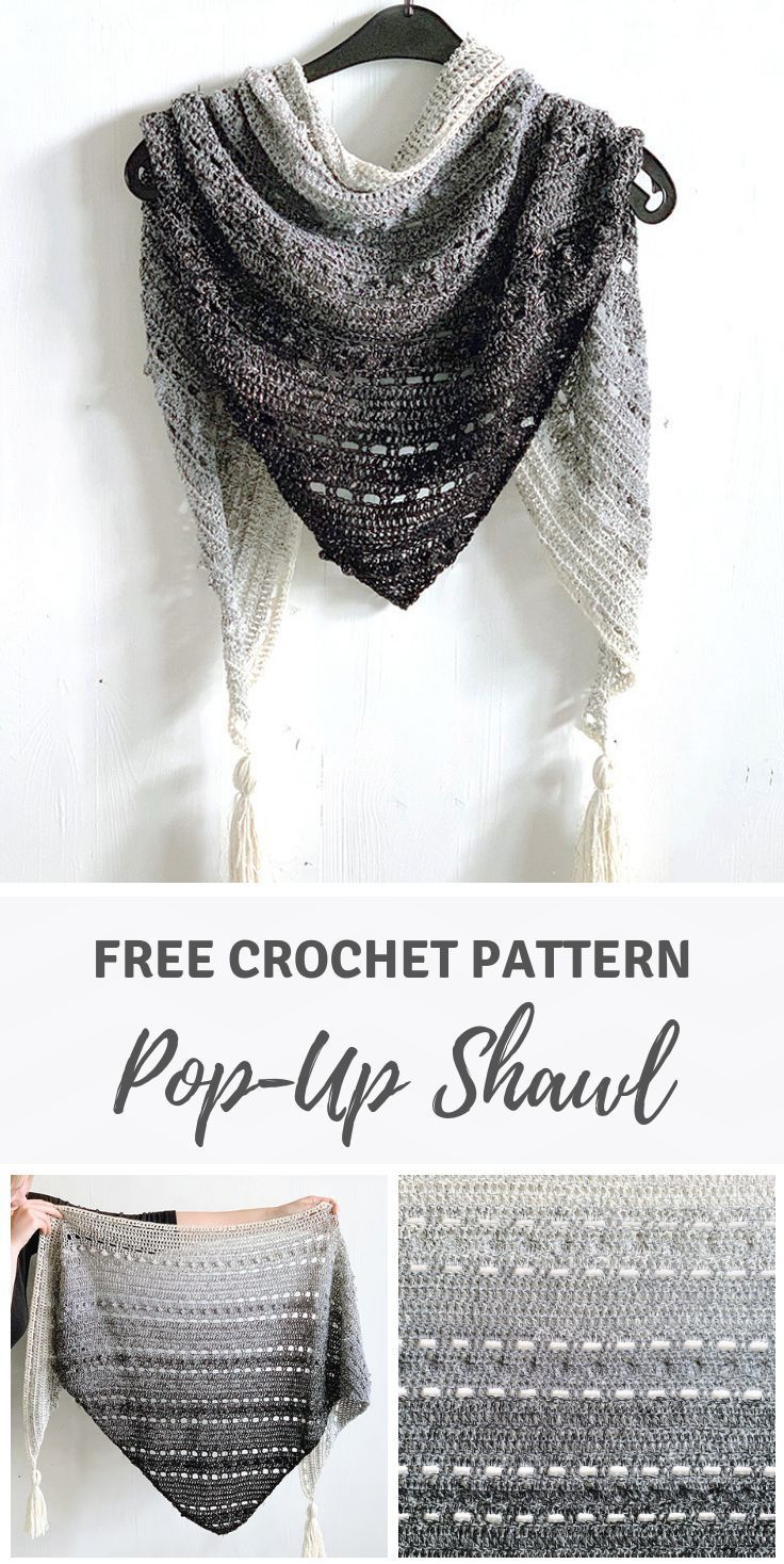 Photo of Triangle scarf for beginners: Pop-Up Shawl by Wilmade (free pattern)