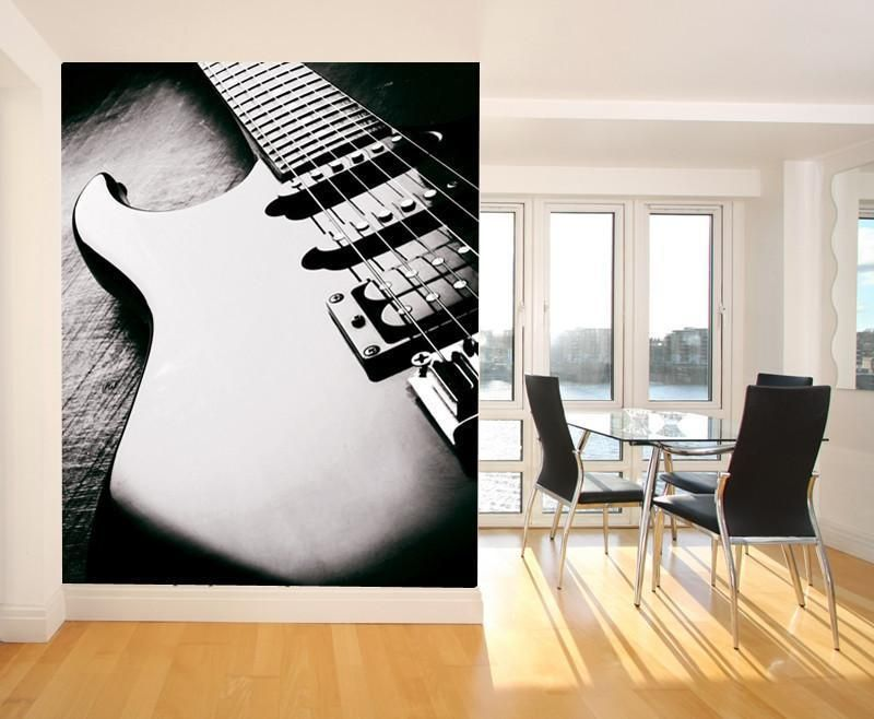 Electric Guitar Wall Mural Guitar wall Wall murals and Custom