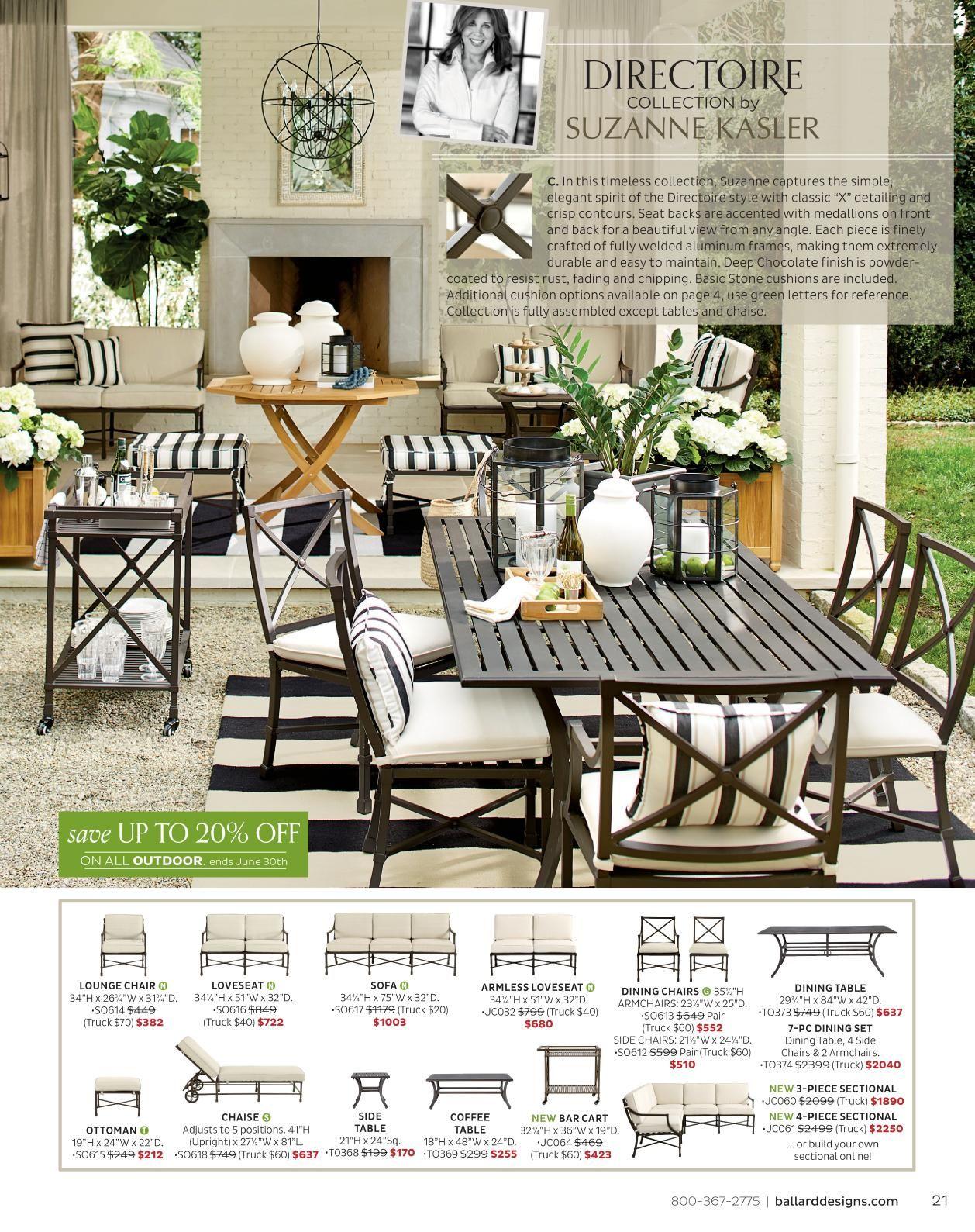 Ballard Designs Online Catalogs Directoire Collection By Suzanne Kasler Balcony Furnitureoutdoor