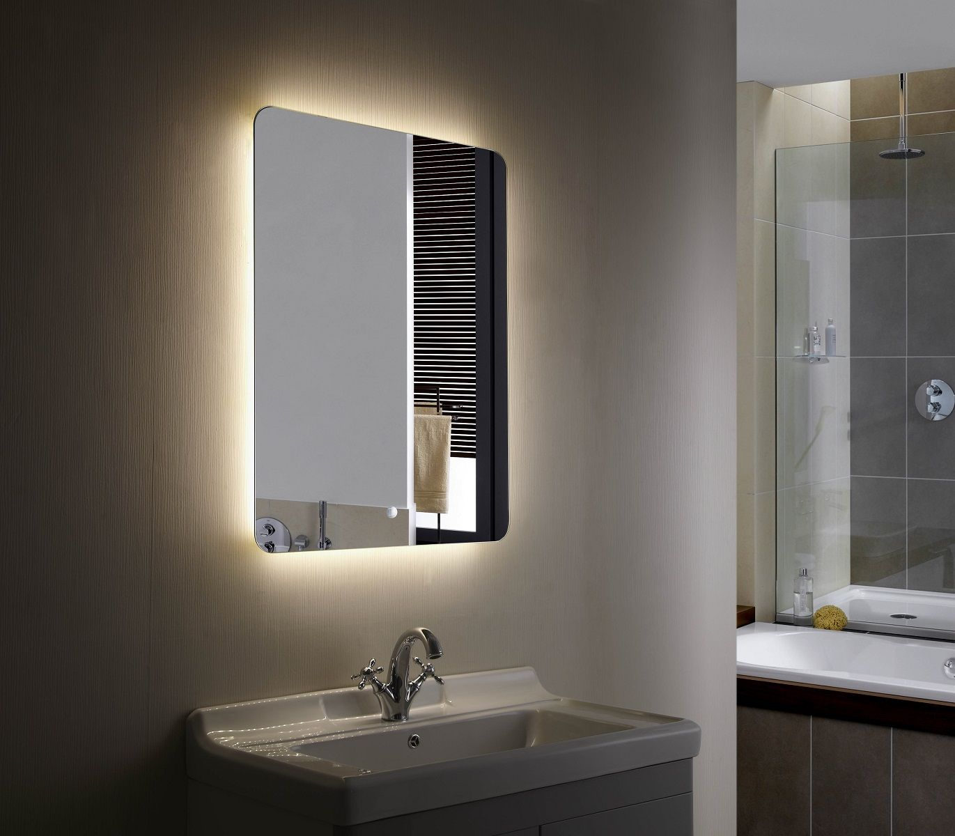 Montana Ii Backlit Mirror Led Bathroom Mirror Bathroom Mirror Lights Led Mirror Bathroom Backlit Bathroom Mirror