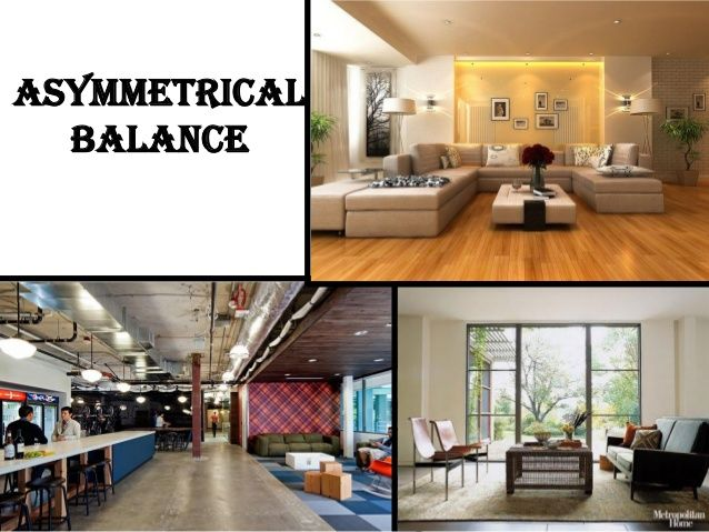 Asymmetrical balance interior design principles why our for Symmetrical interior design