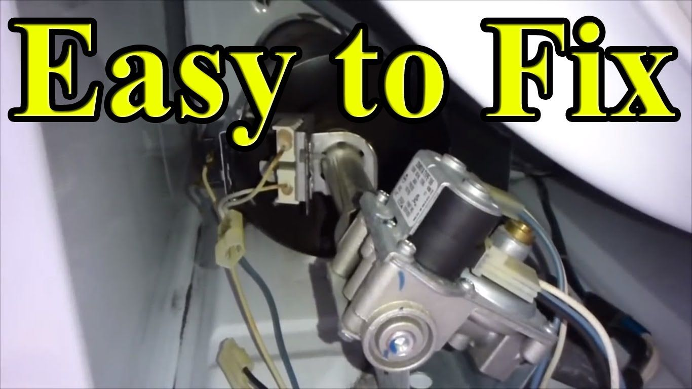 How To Fix Your Gas Dryer That Is Not Heating Up Part 2 Front