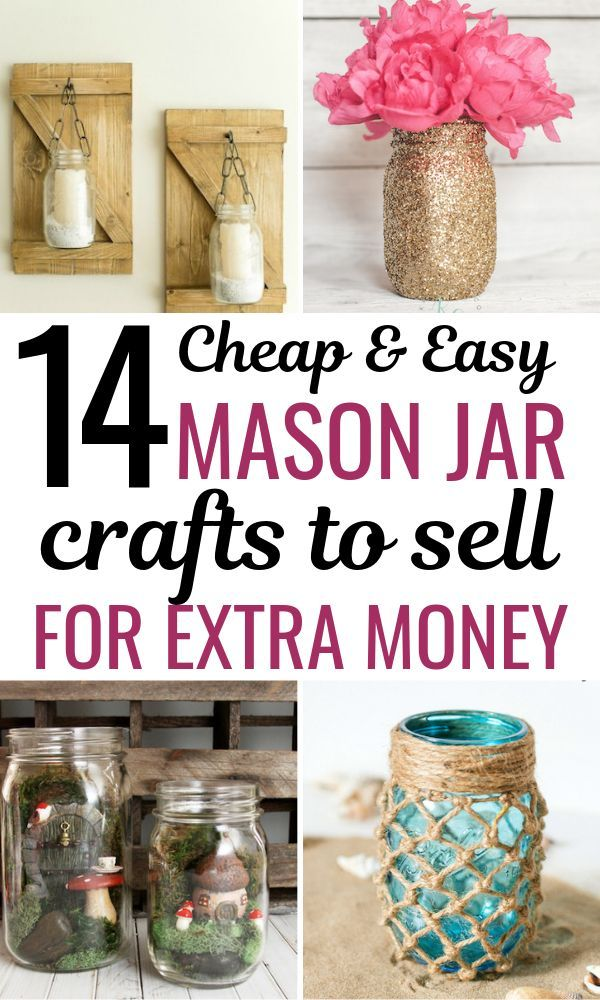 15 DIY Mason Jar Crafts To Sell For Extra Cash That You Need To Know About #craftstosell