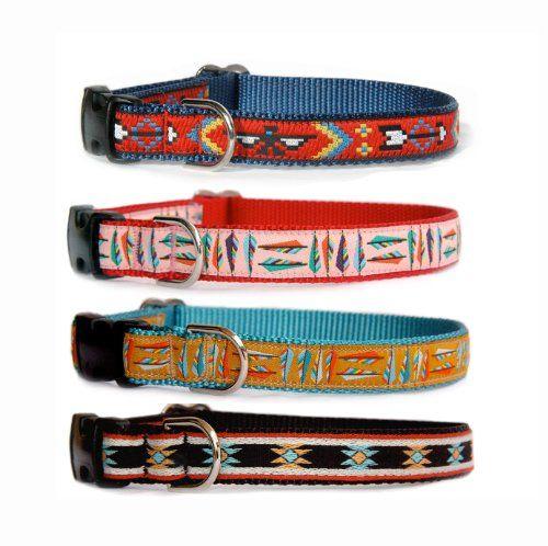 Custom made dog collar Navajo Santa Fe Southwestern Native American
