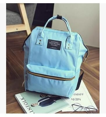 DIDA BEAR Fashion Women Backpacks Female Denim School Bag For Teenagers  Girls Travel Rucksack Large Space 2fc843882a362