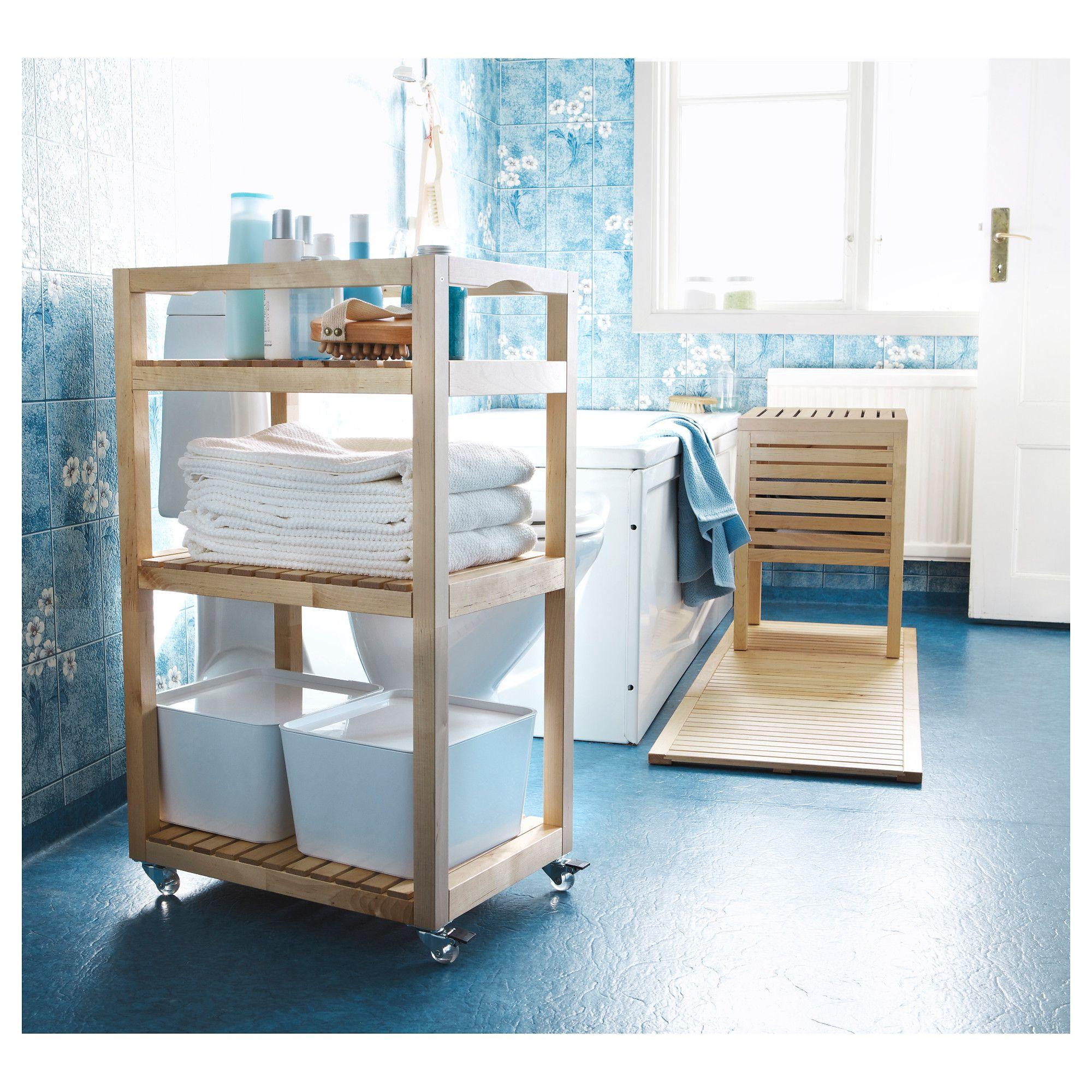 Ikea Molger Cart Birch Lavar Muebles Auxiliares Bano Bano