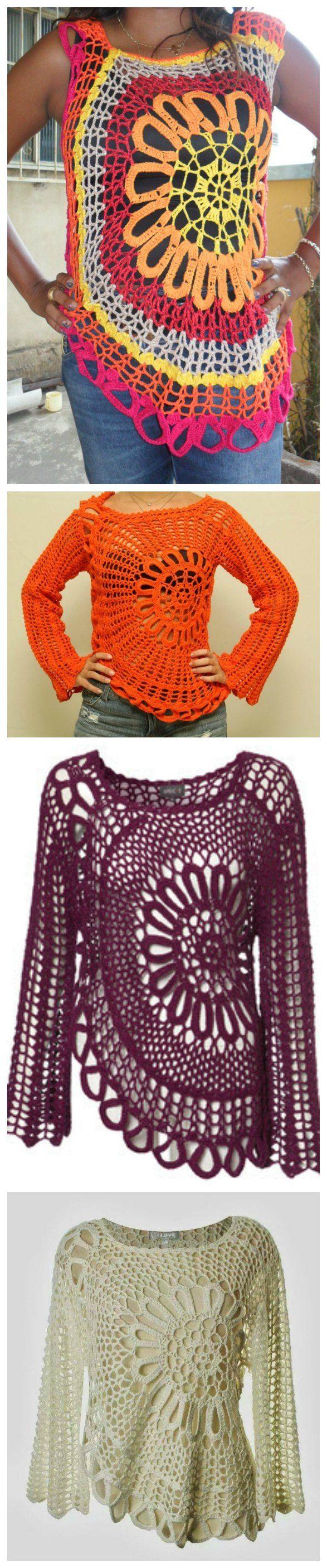 Crochet Stylish Blouse | crochet | Pinterest | Pullover häkelmuster ...