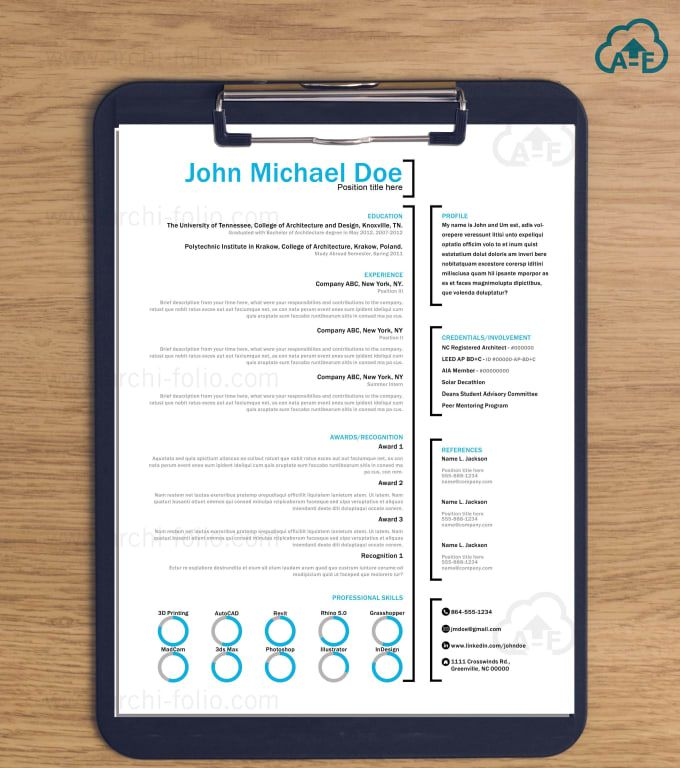 create and design a resume and cl