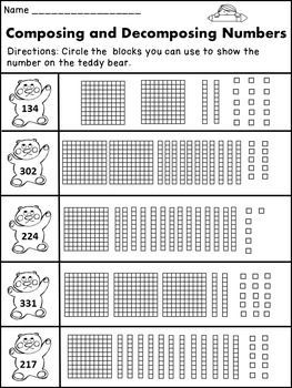 Composing and Decomposing Numbers 2nd Grade | Worksheets ...