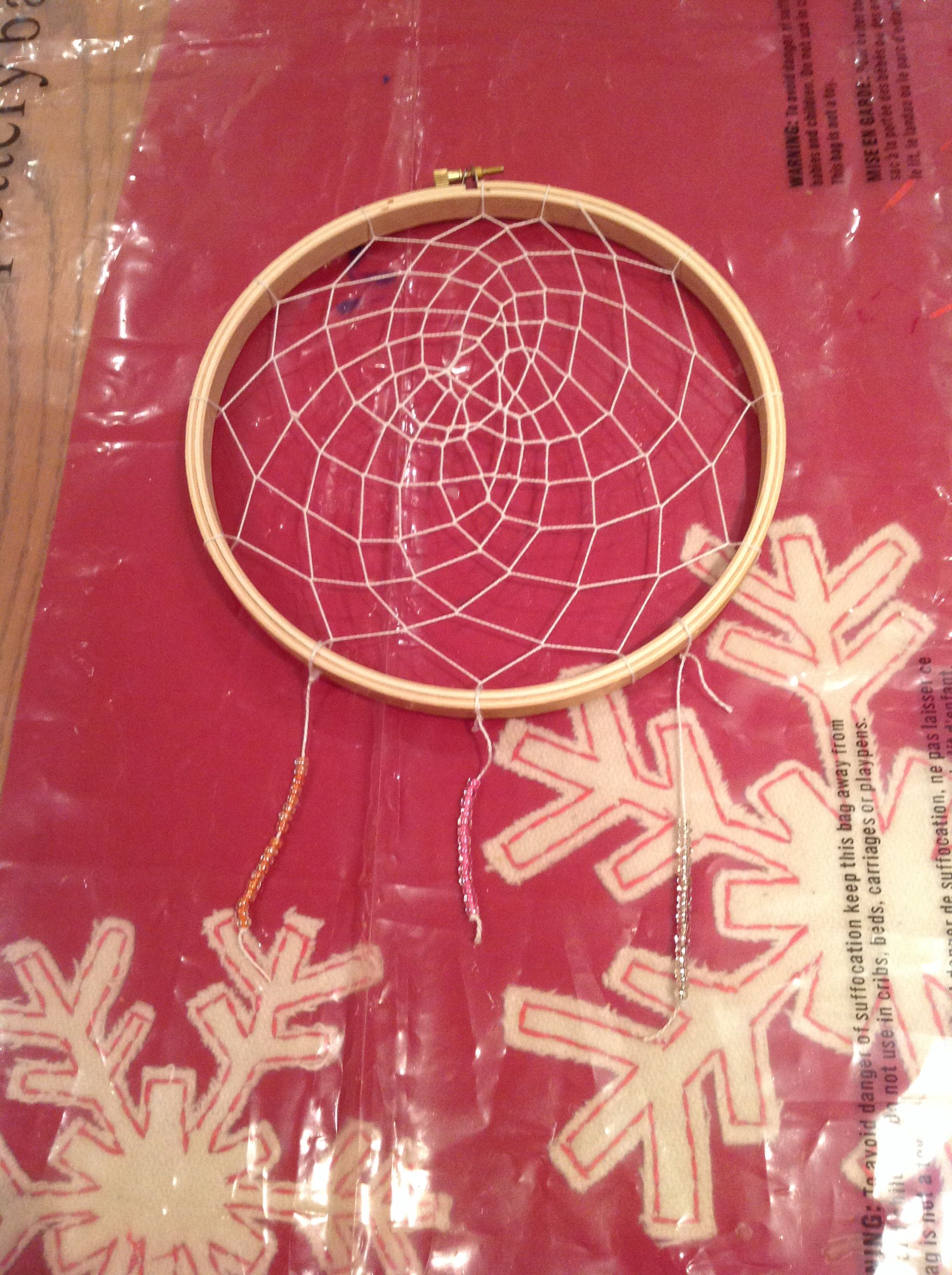 Diy dream catcher!! I made it at a birthday party!!!!