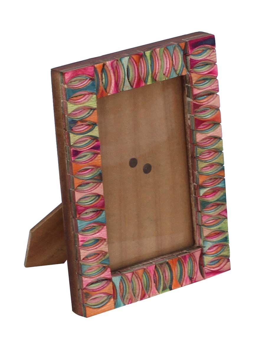 Bulk wholesale handmade wooden rectangular shaped photo frame bulk wholesale handmade wooden rectangular shaped photo frame stand with colorful oval shaped patterns on jeuxipadfo Choice Image