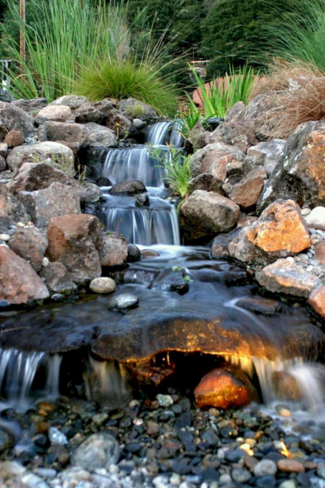 Adorable 25 Best And Wonderful Backyard Waterfall Design Ideas Https Teracee Com Backyard Ideas 25 Best A Waterfalls Backyard Ponds Backyard Garden Waterfall